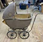 Very Rare Antique Wicker Baby Carriage w/Storage Compartment Sidway-Topliff Co
