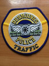 PATCH POLICE DESMOINES  TRAFFIC IOWA IA STATE