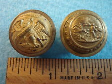 Post Civil War Minnesota & Illinois State Seal Military Buttons Lot of 2