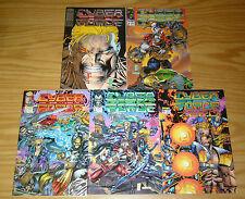 CyberForce #0 & 1-4 VF/NM complete series - image comics - marc silvestri 2 3