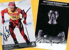 Ole Einar Björndalen-Win - 2 AK images (2) - 2 print copy + Ski AK