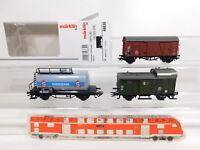 CO873-0,5# 3x Märklin H0/AC Güterwagen etc DB NEM KK: 48830 + Südzucker etc NEUW