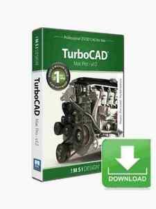 TurboCAD Mac Pro v12 2D 3D CAD Design Software -- Electronic Download