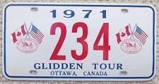 1971 OTTAWA CANADA AACA GLIDDEN TOUR BOOSTER License Plate