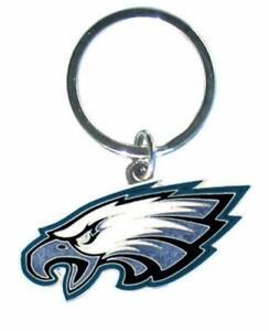 Philadelphia Eagles NFL Metal Chrome Logo Cut Keychain Car Auto