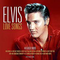 ELVIS LOVE SONGS - 3 LP SET ON RED VINYL - 48 CLASSIC TRACKS