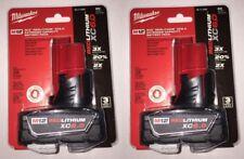 Milwaukee 48-11-2460 M12 REDLITHIUM XC 6.0 Ah EC Li-Ion  2 Batteries NIB