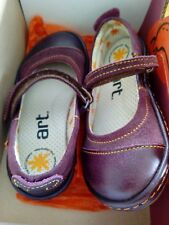 The Art Company Girls Lila Shoes, BNIB, size  EU 28, UK 10, wine suede/leather