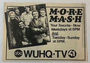 1984 ABC WUHQ tv ad ~ More M*A*S*H ~ mash