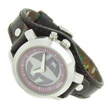 Fossil BIG TIC Damenuhr Armbanduhr Edelstahl Leder Lila BG-2201 5ATM Ba neu N401