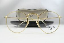 Ray-Ban RB 3447V 2730 Round Gold New Authentic Eyeglasses 47mm 21mm 145mm w/Case