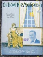 Oh How I Miss You to-Night Featured by Chas. H. Forsythe 1924 Sheet Music