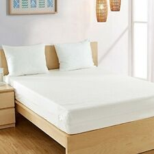 Fullcover Zipped Waterproof Mattress Cover Double 135 x 190 x 25 cms