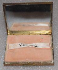 Vintage BRITEMODE Gold Tone Ladies Powder Compact Box Empty