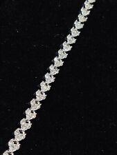 Cubic Zirconia Silver Bracelet