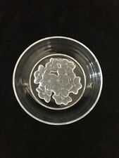 Clear Candy Dish With Flowers On Bottom 5-1/2""