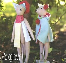 FOXGLOVE - Sewing Craft PATTERN - Soft Toy Felt Rag Doll Bear Rabbit