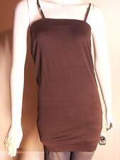 Women's Sun Dress/Sun Skirt Brown Stretchy One Size/Medium Nylon/Spandex