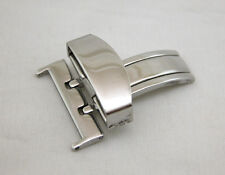 22MM Deployment Buckle SINGLE Clasp Polished Stainless Steel