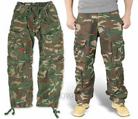 SURPLUS AIRBORNE TROUSERS DPM CAMO RAW VINTAGE CARGO WOODLAND COMBAT PANTS ARMY