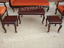 French style wooden center / coffee table with 2 side tables (set of 3)