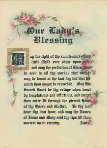 OUR LADY's BLESSING Victorian style repro Catholic Blessed Virgin Mary Print