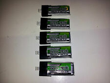 5 New Turnigy nano-tech 300mAh 1S 35C Lipo E-Flite Blade mCPX FBL100 Batteries