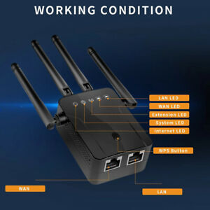 Wifi Range Extender Wireless Repeater Router 4 Antenna 300M Signal Amplifier