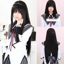 Akemi Homura Puella Magi Madoka Magica Long Black Straight Anime Cosplay Wig @1