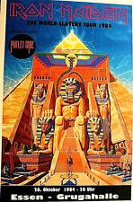 IRON MAIDEN & MOTLEY CRUE -  WORLD SLAVERY TOUR 1984 - GERMANY POSTER  scarce