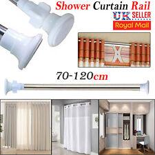 2X Telescópico baño ducha riel de cortina extensible 125-220cm Polo caña de Baño de Cromo