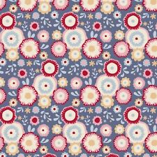 LIMITED EDITION Tilda Candy Bloom Fabric. Candyflower in Stone Blue. By the FQ