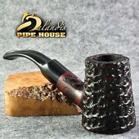 Original BALANDIS Briar Smoking pipe Hand made Bent Poker CAPTAIN Bloody Villain