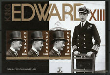 Guyana Royalty Stamps 2012 MNH King Edward VIII 75th Accession Anniv 3v M/S