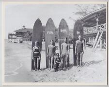 "WAIKIKI TEENAGE KAHANAMOKU SURFERS 1920's SILVER HALIDE PHOTO ON 8X10"" MATT"