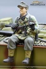 Figura 1/16 Soldado Ww2 Splittertarn Alemán Tanque Rider con Mp40 Ejército F1020