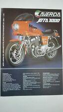 Prospectus Catalogue Brochure Motos LAVERDA 1000 JOTA et 1200 TS 1982