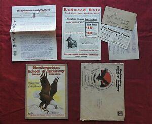 1929 J.W. Elwood's Northwestern School of Taxidermy Catalog Enrollment Kit MINTY