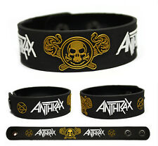 Anthrax Rubber Bracelet Wristband Among the Living Persistence of Time