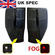 Smoked Black Rear lights UK SPEC for Ford Ranger 2012  tail lamp WILDTRAK tinted