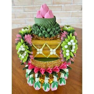 SETCandle Pae Forgiveness Fabric Flower Ornament Buddha Artific Worship Offering