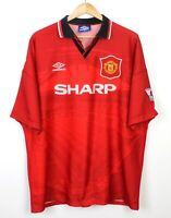 Manchester United Vintage 1994-96 Short Sleeve Home Football Shirt Winners - 2XL