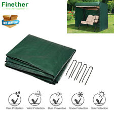 nero e verde in polietilene Resistente /& lavabile Panca da giardino 2 posti a copertura