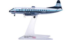 1:200 Herpa BRITISH MIDLAND Vickers Viscount 800 Passenger Plane Diecast Model