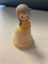 Precious Moments Monthly Flower Girl October Mini Bell- Pre Owned