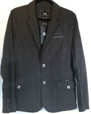Men's Jacket ROCK REPUBLIC Blazer GRAY RED Black Leather Unstructured 37R Small