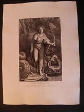 M Santa Margherita Drago Raffaello acquaforte originale 1763 Marguerite Surugue