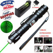AU 1mw 532nm 8000M Power Green Laser Pointer Light Pen Beam + Battery + Charger
