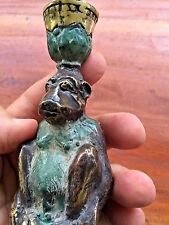 Solid Bronze Mischievous Seated Monkey Candle Bowl