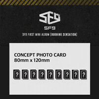 SF9 - 1ST MINI ALBUM BURNING SENSATION CONCEPT PHOTO CARD TAEYANG CHANI DAWON